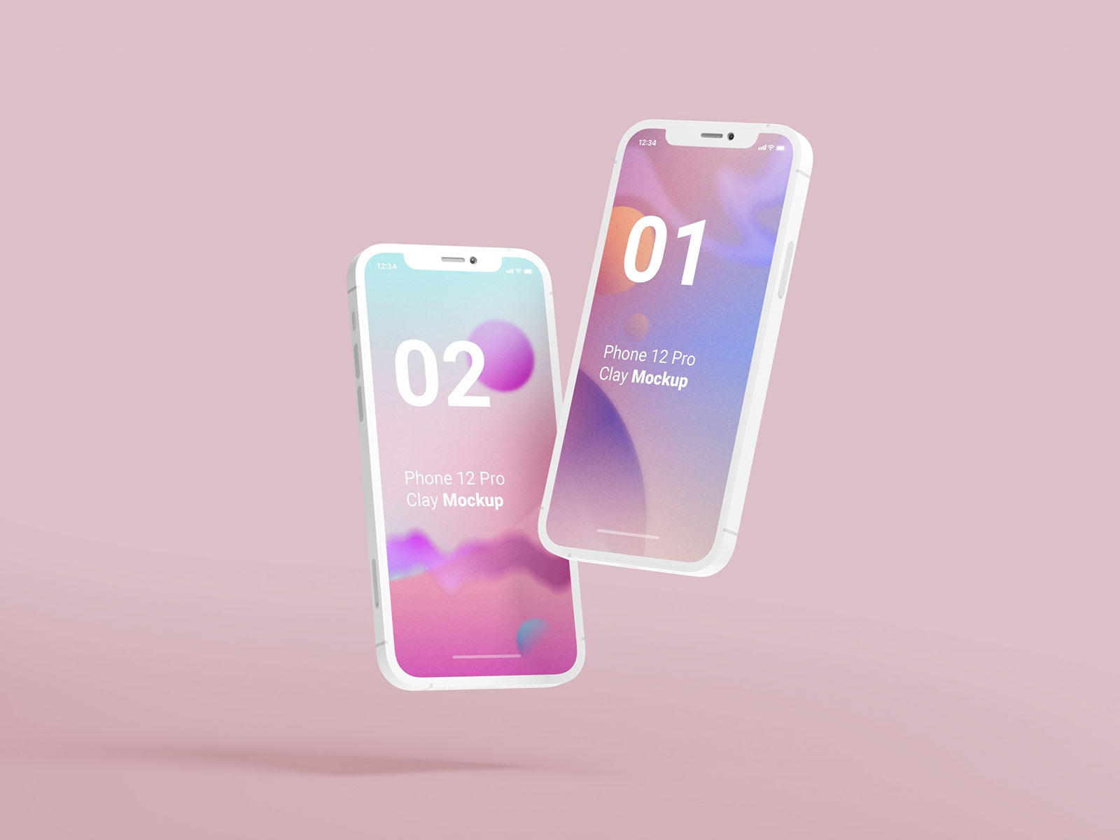 Free-Apple-iPhone-12-Pro-Clay-Mockup-PSD