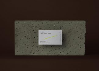 Free-Business-Card-on-Stone-Mockup-PSD