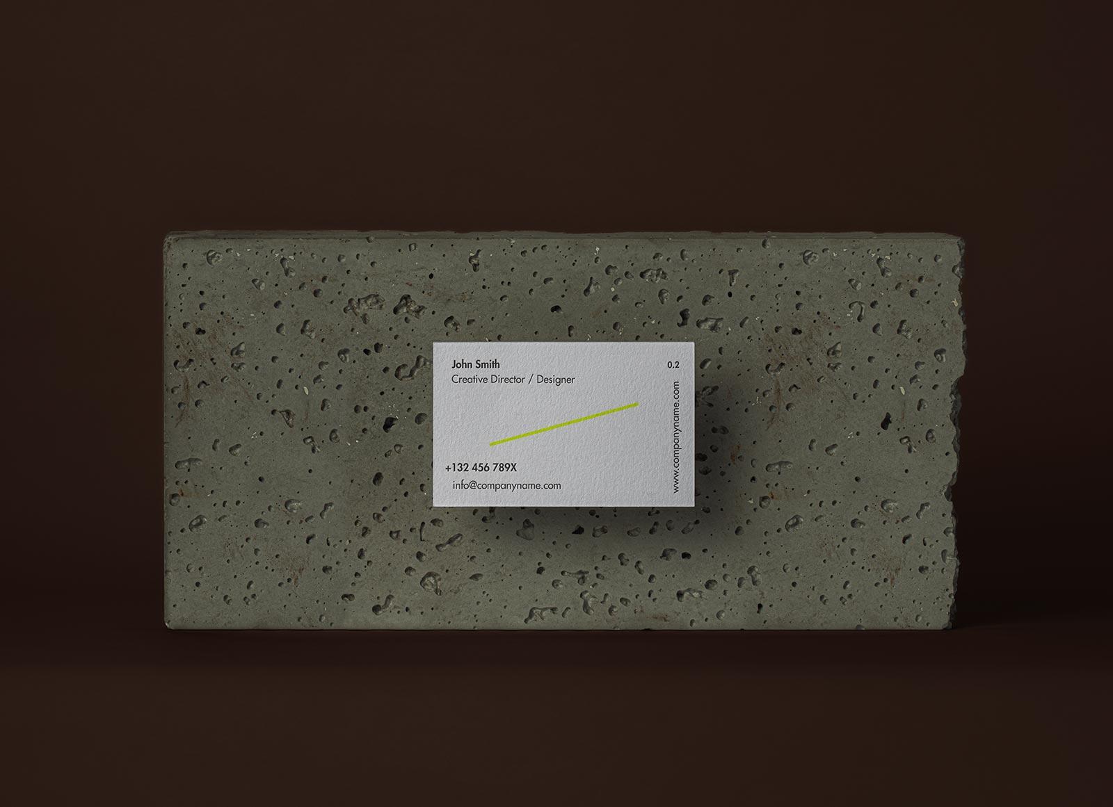 Free-Business-Card-on-Stone-Mockup-PSD