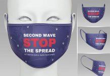 Free Coronavirus Face Mask Mockup PSD Set