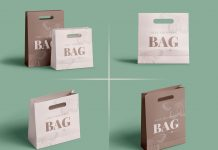 Free Eco-Friendly Paper Shopping Bag Mockup PSD Set (1)