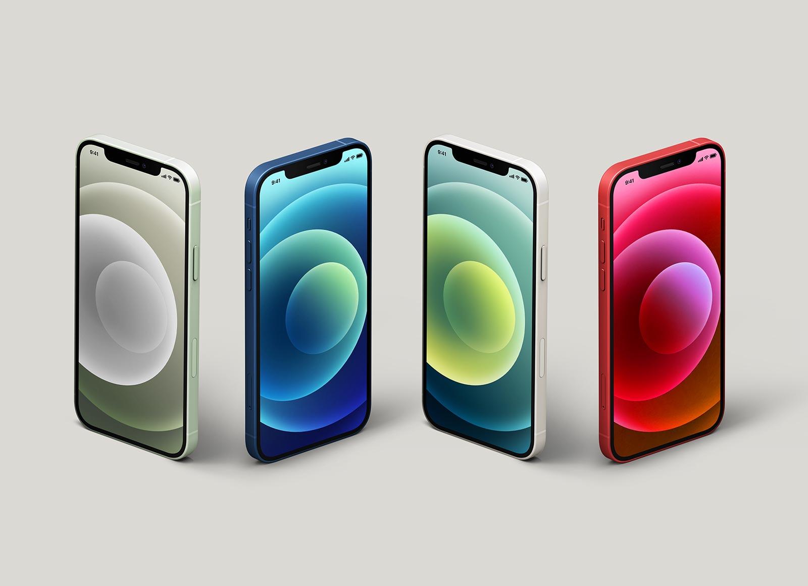 Free-Isometric-iPhone-12-Mockup-PSD-Set
