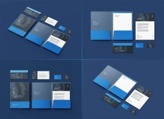 Free Premium Stationery Mockup PSD Set (6 Renders)