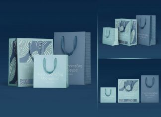 Free Shopping Bag Presentation Mockup PSD Set