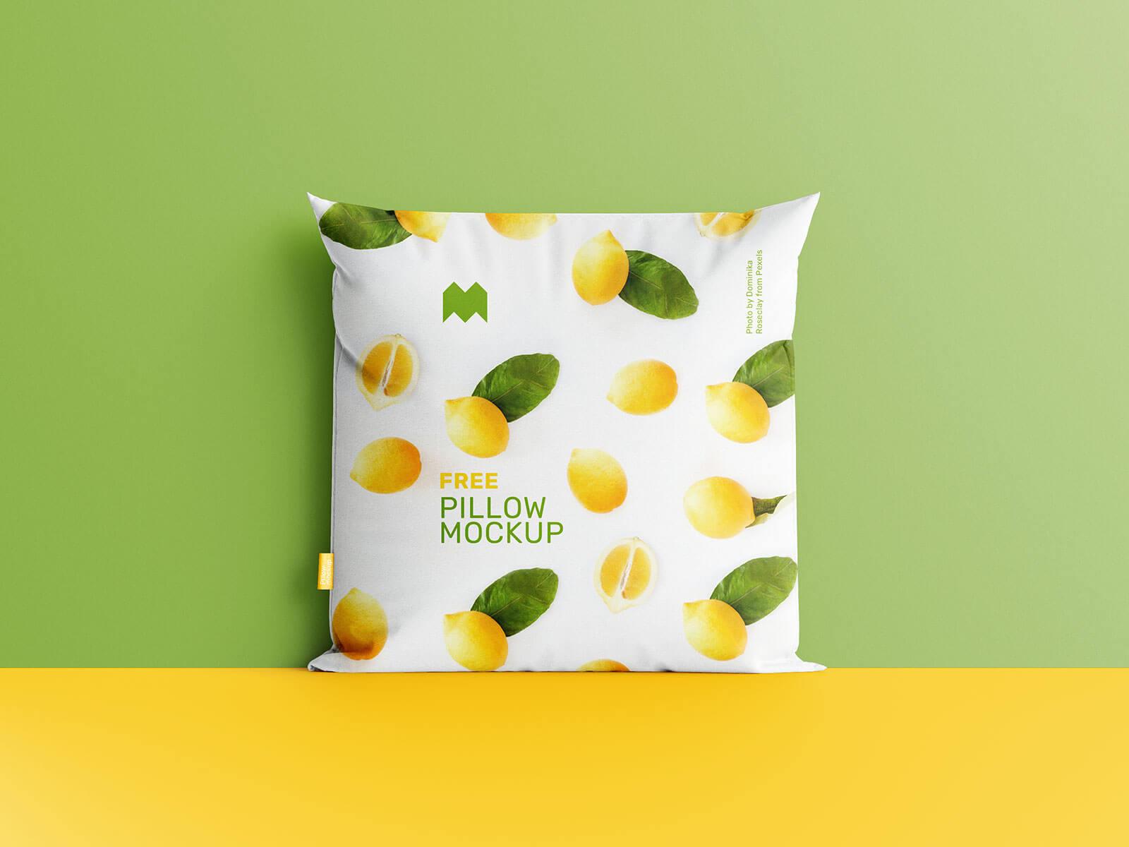 Free Square Cushion Pillow Mockup PSD Set