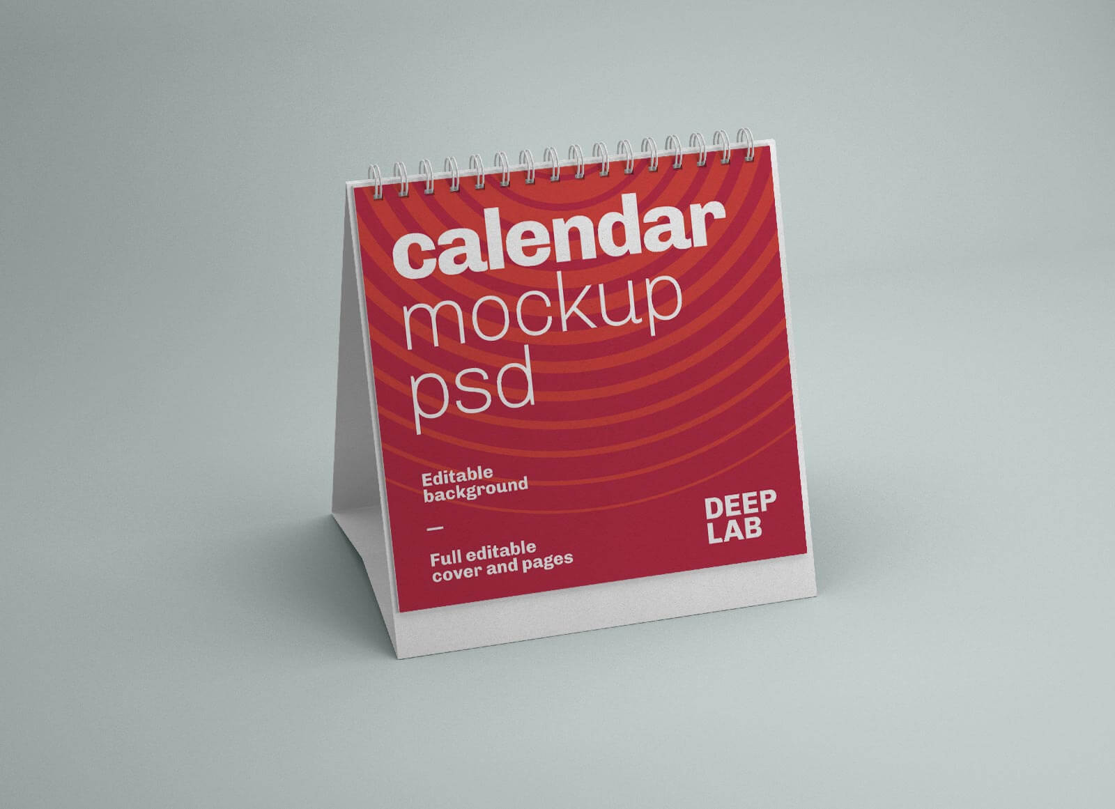 Free Square Desk Calendar 2022 Mockup PSD (3)