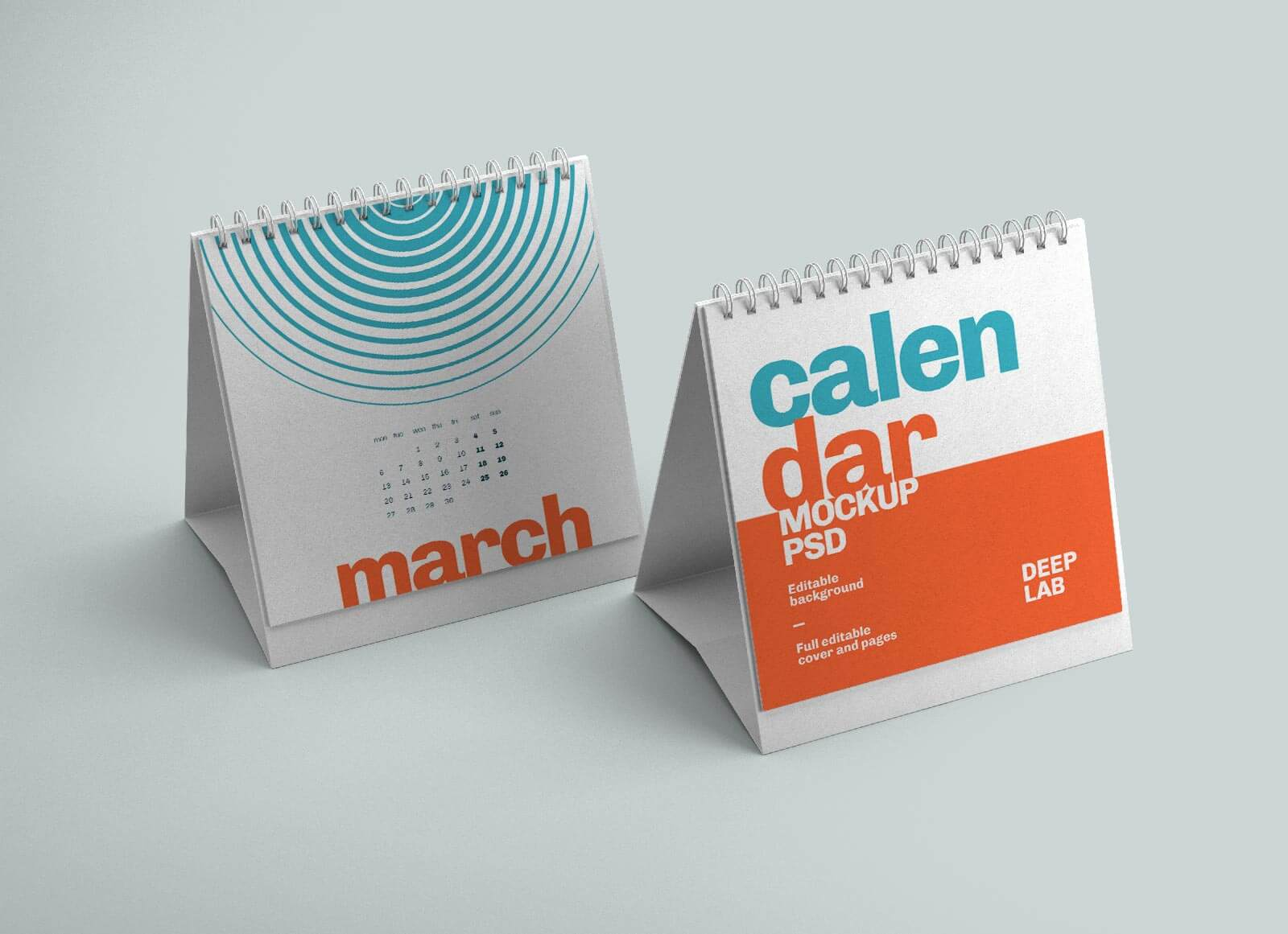 Free Square Desk Calendar 2022 Mockup PSD (4)