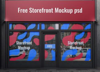 Free-Storefront-Window-Sign-&-Facade-Mockup-PSD