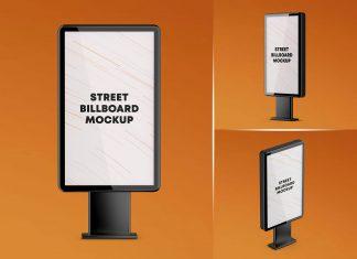 Free Street Billboard Mockup PSD Set