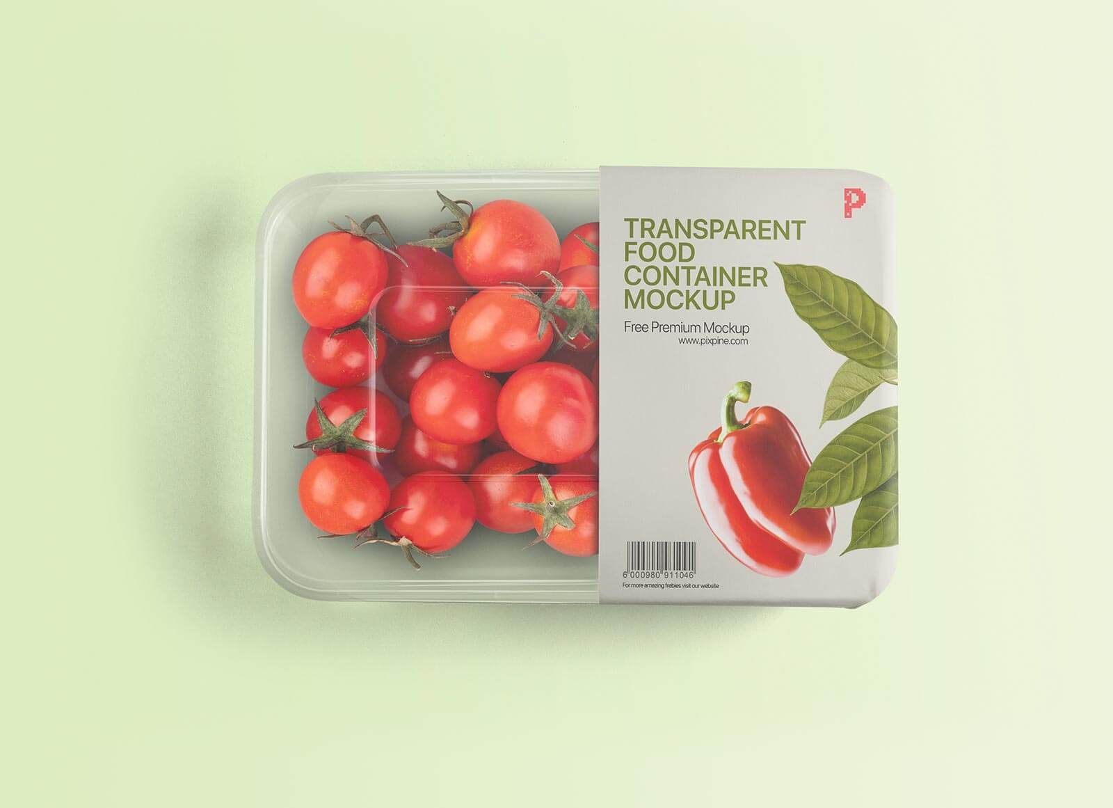 Free Transparent Vegetable Food Container Mockup PSD