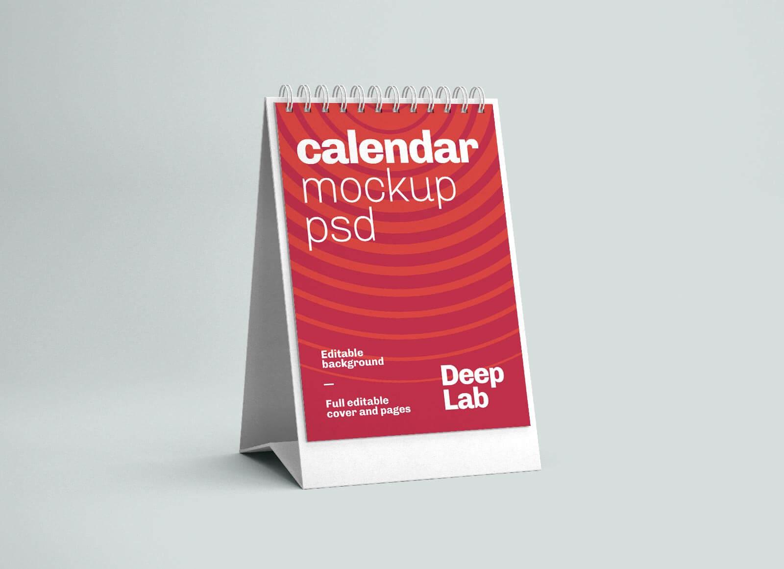 Free Vertical Desk Calendar 2022 Mockup PSD (5)