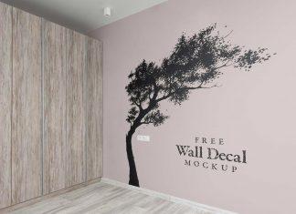 Free-Wall-Art-Sticker-Decal-Mockup-PSD