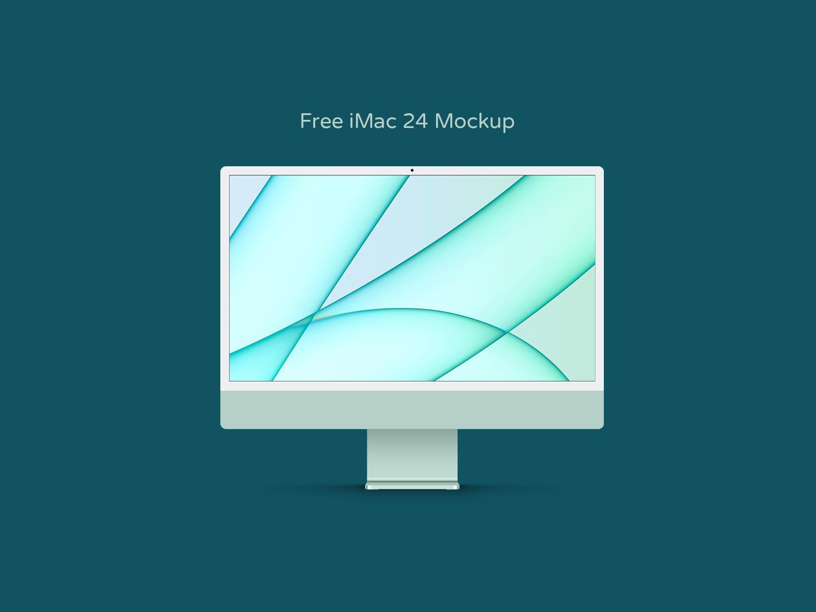 Green-iMac-24-Mockup-PSD
