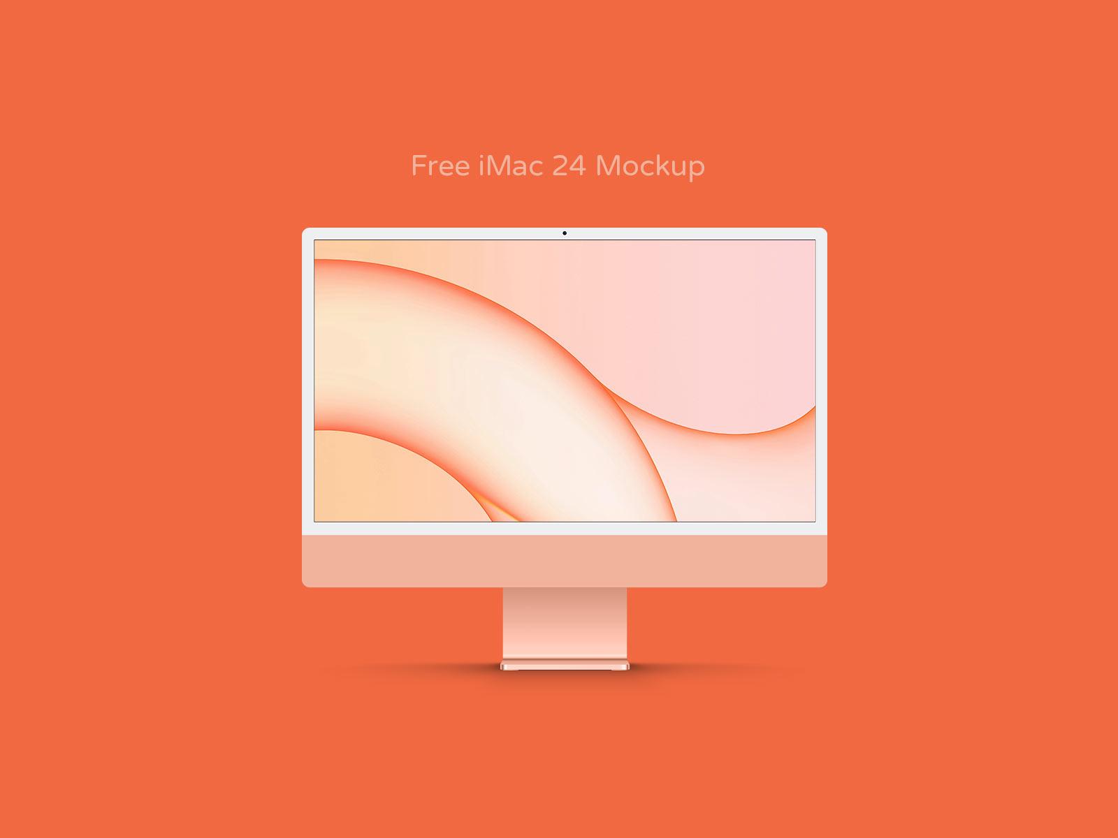 Orange-iMac-24-Mockup-PSD