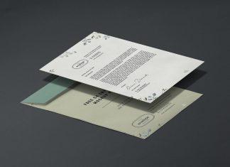Free-A4-Letterhead-&-C4-Envelope-Mockup-PSD
