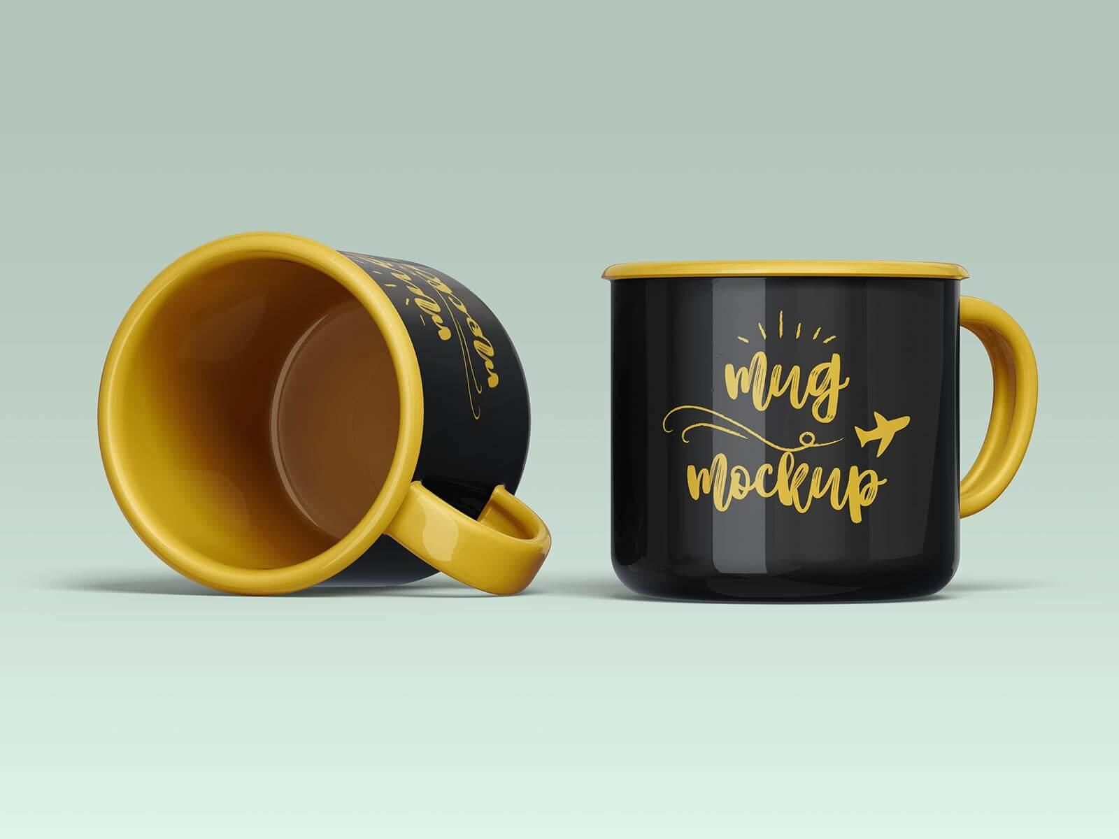 Free Ceramic Mug Mockup PSD Set (1)