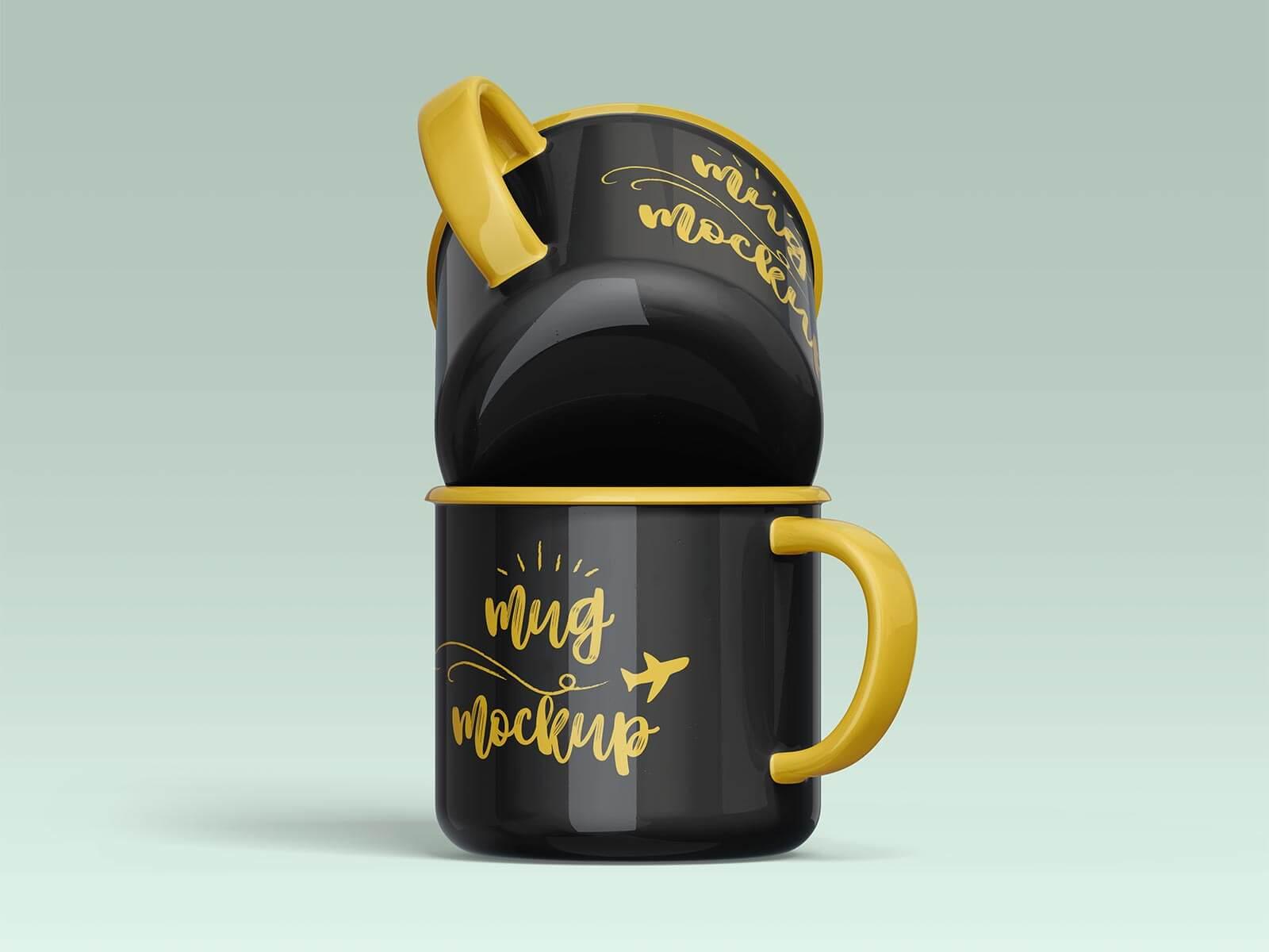 Free Ceramic Mug Mockup PSD Set (2)
