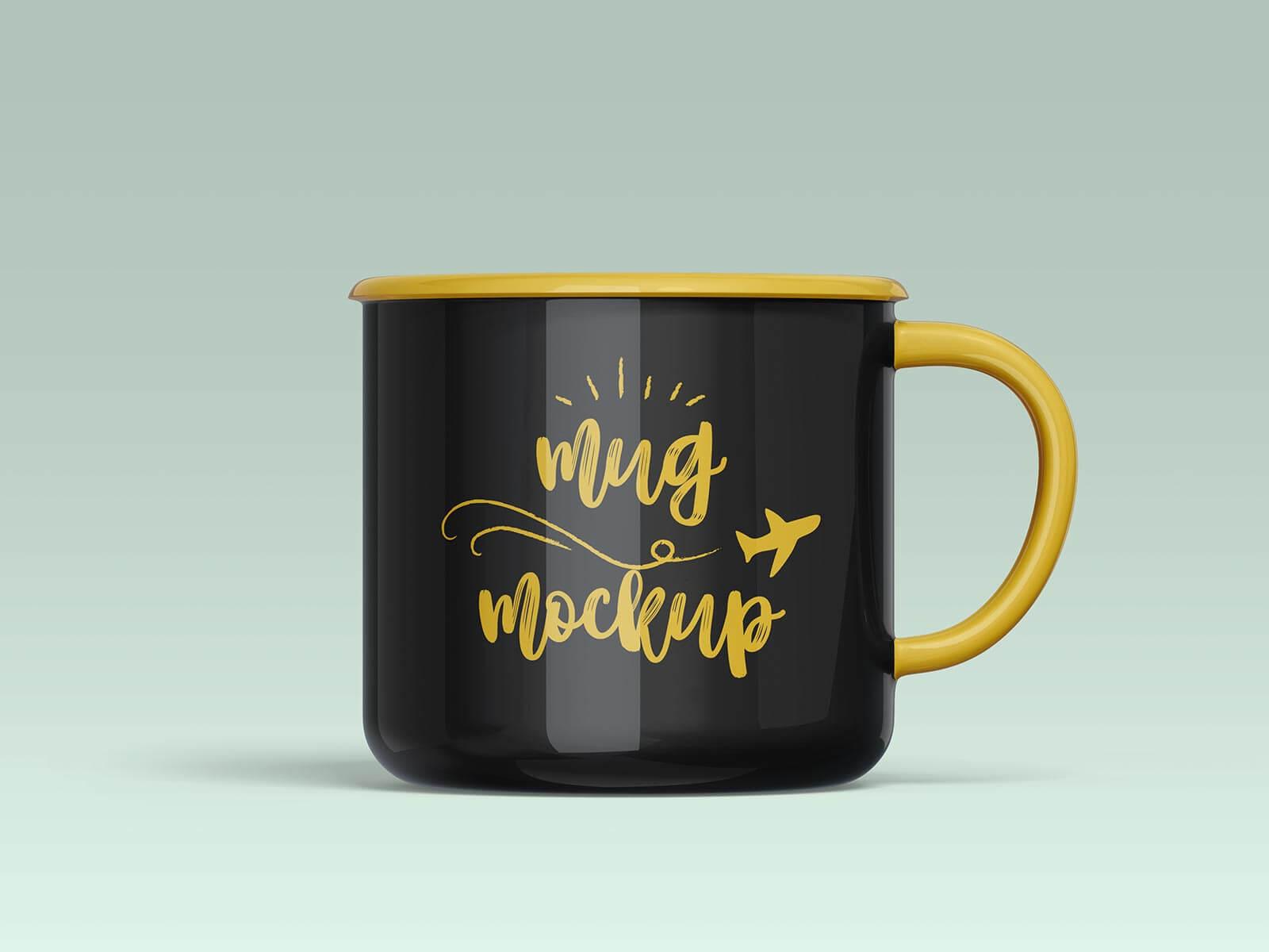 Free Ceramic Mug Mockup PSD Set (3)