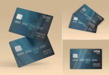 Free Credit Debit Bank Card Mockup PSD Set