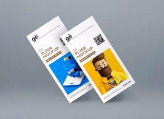 Free Front & Backside DL Flyer Mockup PSD