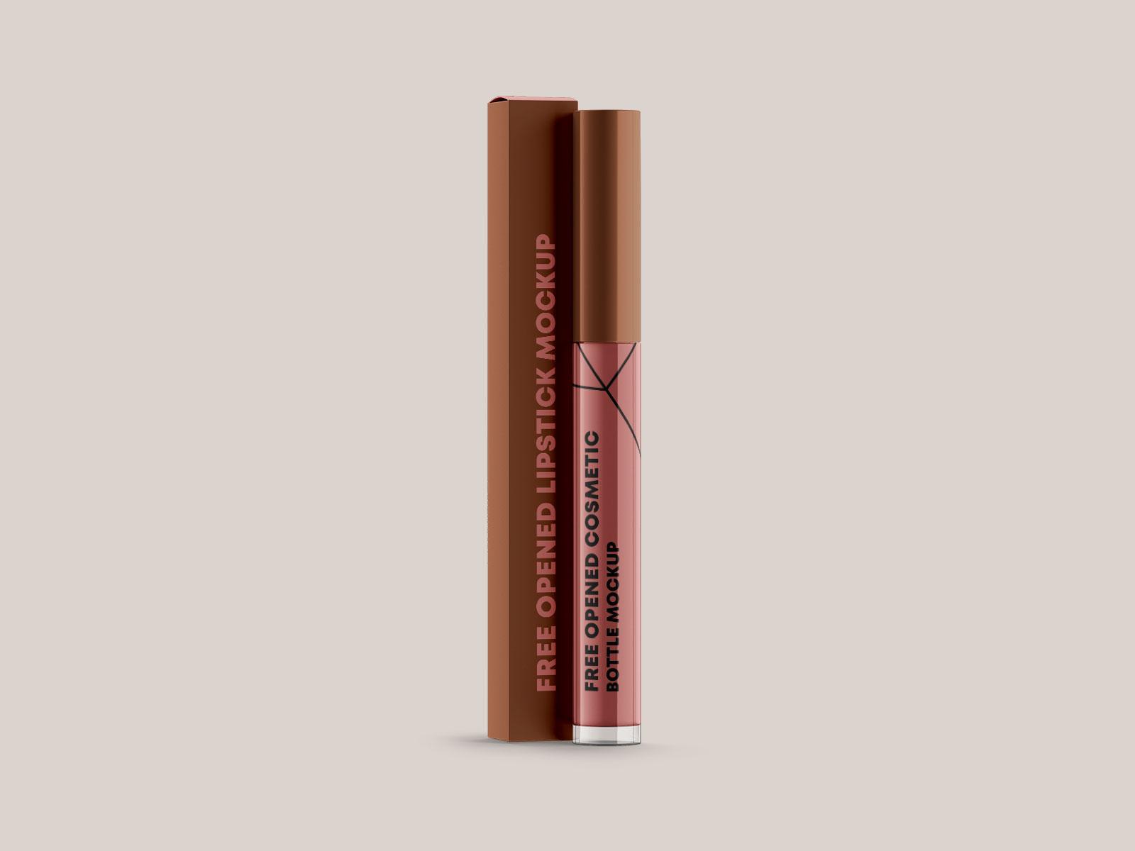 Free Lip Gloss Tube Vial Container Mockup PSD Set