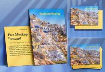 Free Mailing Postcard Mockup PSD Set