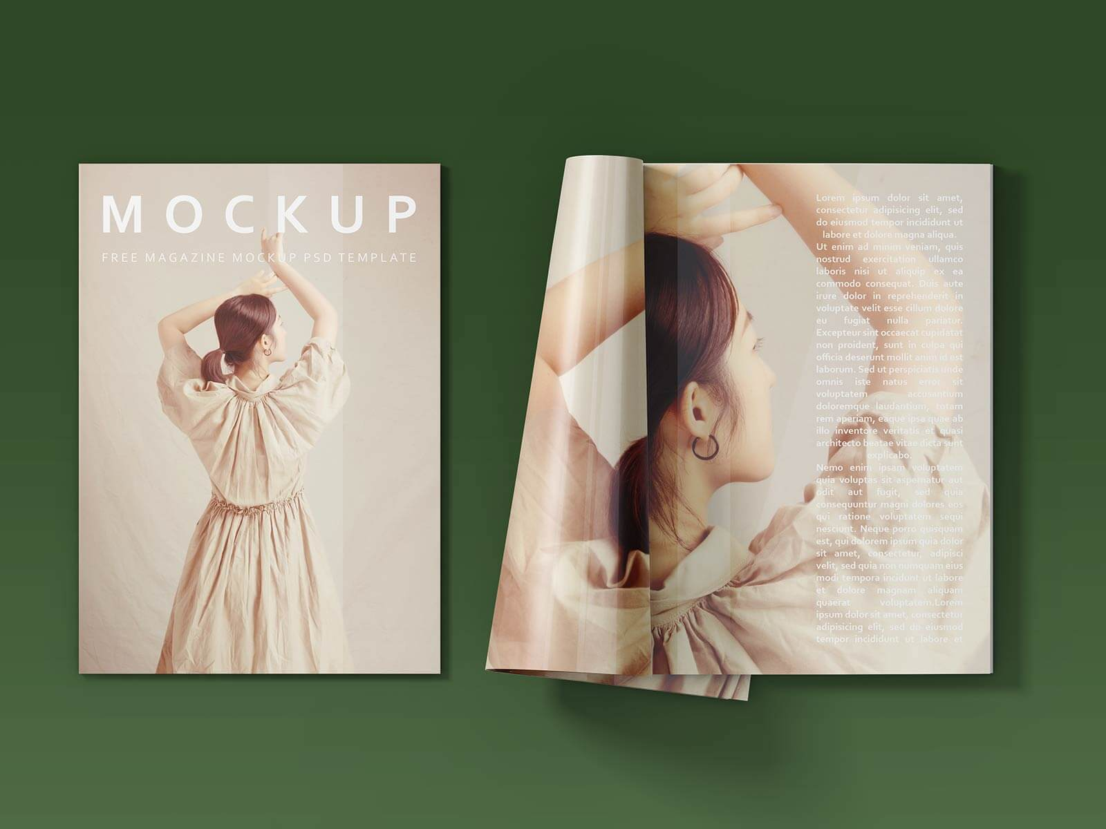 Free Open & Closed Magazine Mockup PSD Set