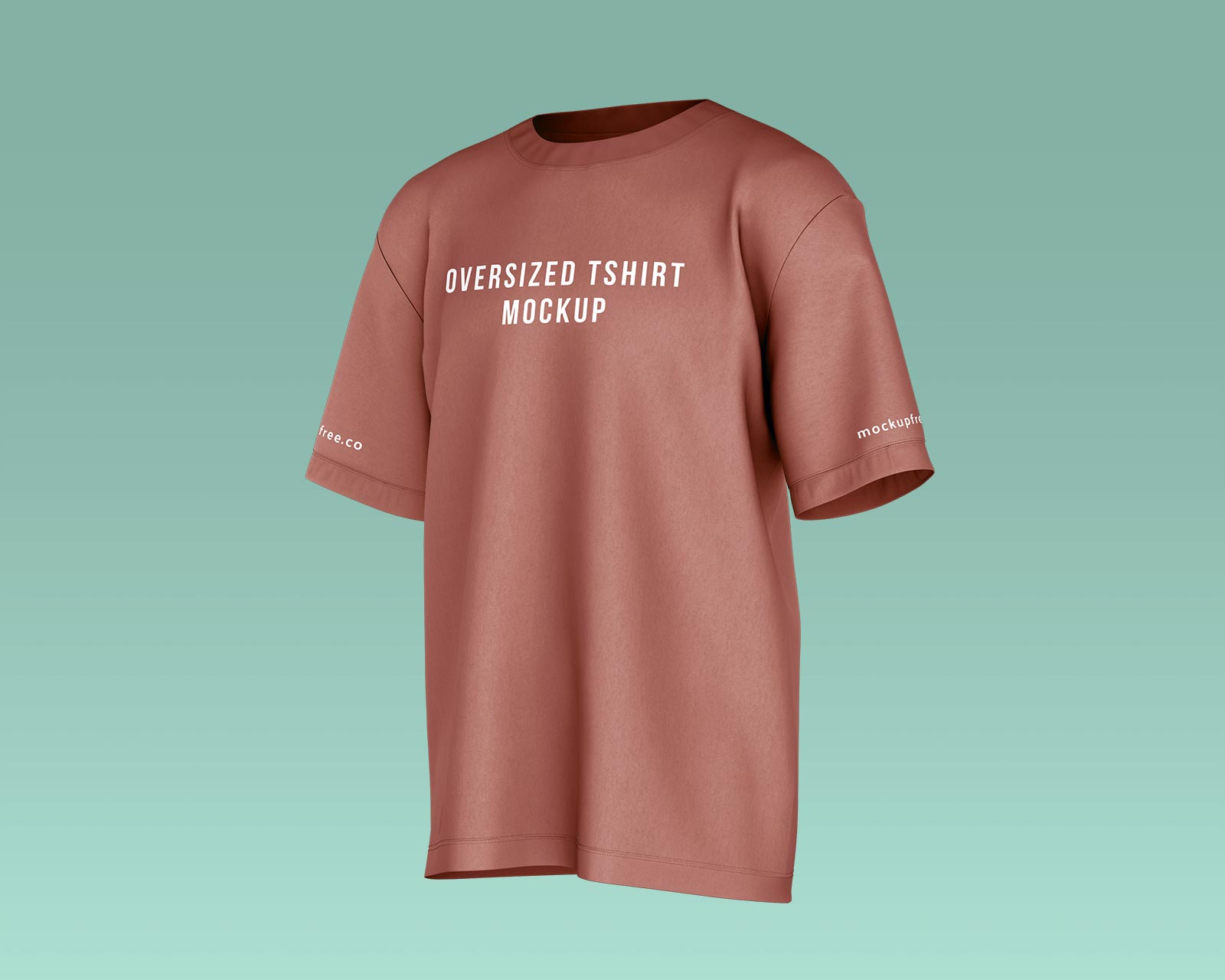 Free Oversized Half Sleeves T-Shirt Mockup PSD Set