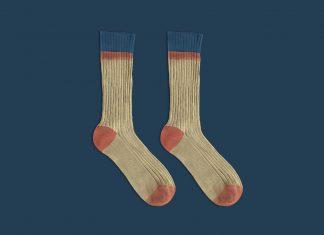 Free-Photorealistic-Mid-Calf-Socks-Mockup-PSD