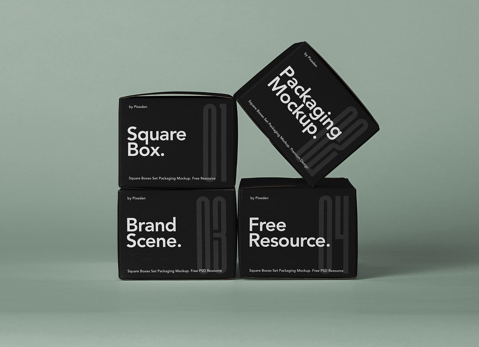 Free-Square-Boxes-Set-Packaging-Mockup-PSD