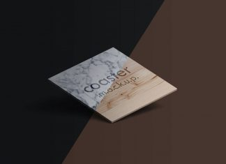Free-Square-Coaster-With-Engraved-Logo-Mockup-PSD