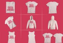 11-Free-T-Shirt,-Hoodie-&-Tank-Top-Mockup-PSD-Set