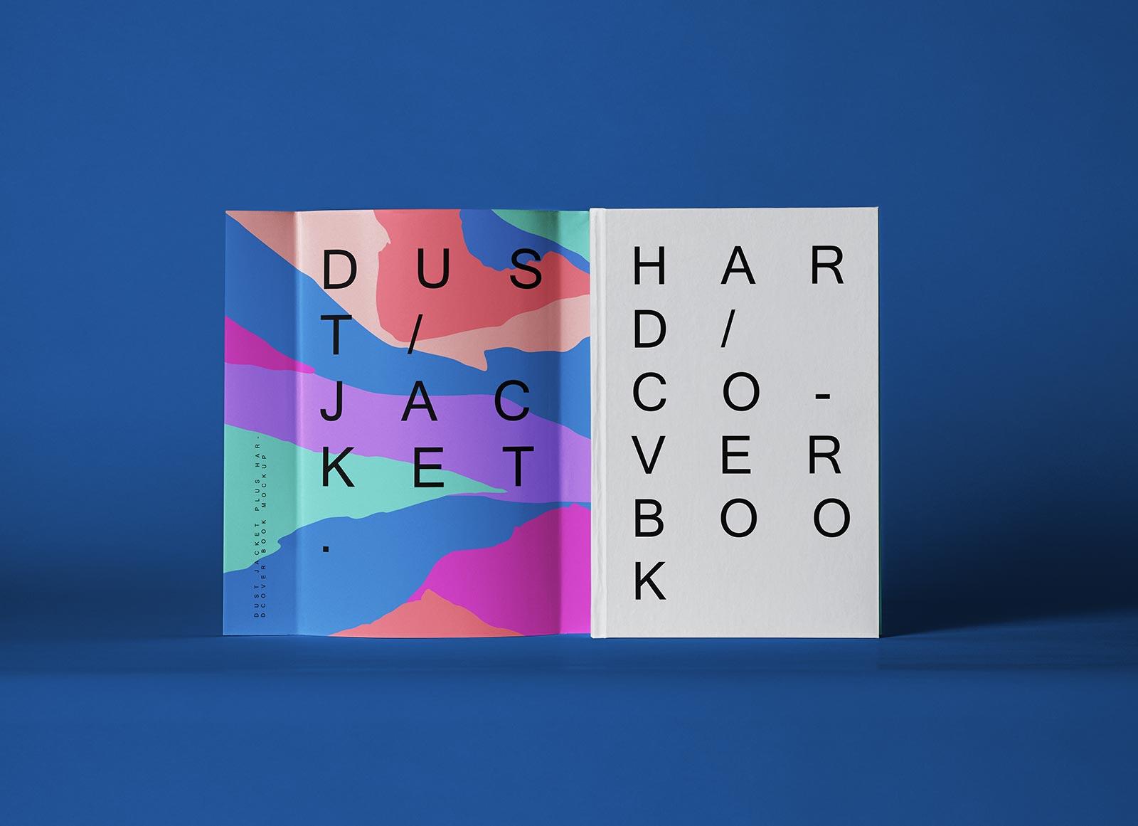 Free Dust Jacket Hardcover Book Mockup PSD