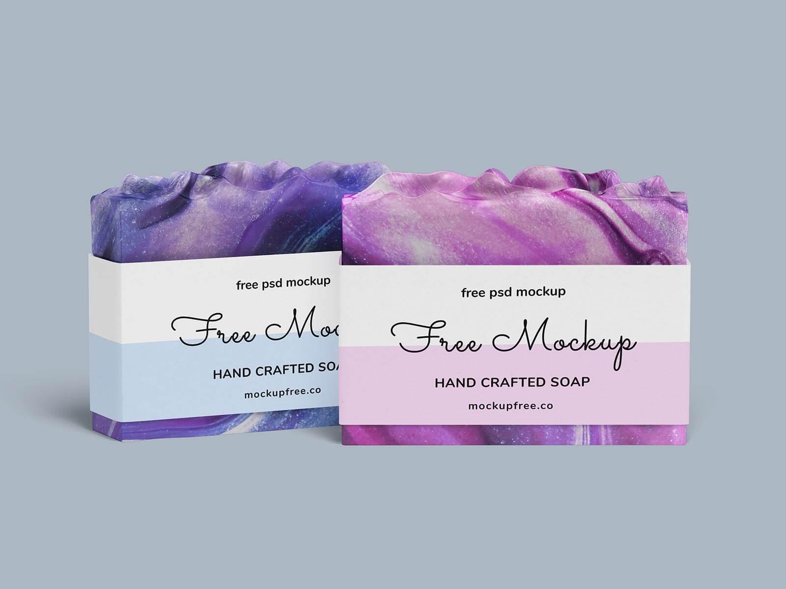 Free Handmade Soap Mockup PSD Set