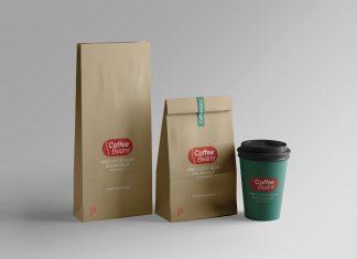 Free-Kraft-Paper-Coffee-Bean-Bag-Mockup-PSD