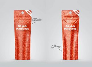 Free-Matte-Glossy-Zip-Lock-Plastic-Standing-Pouch-Mockup-PSD