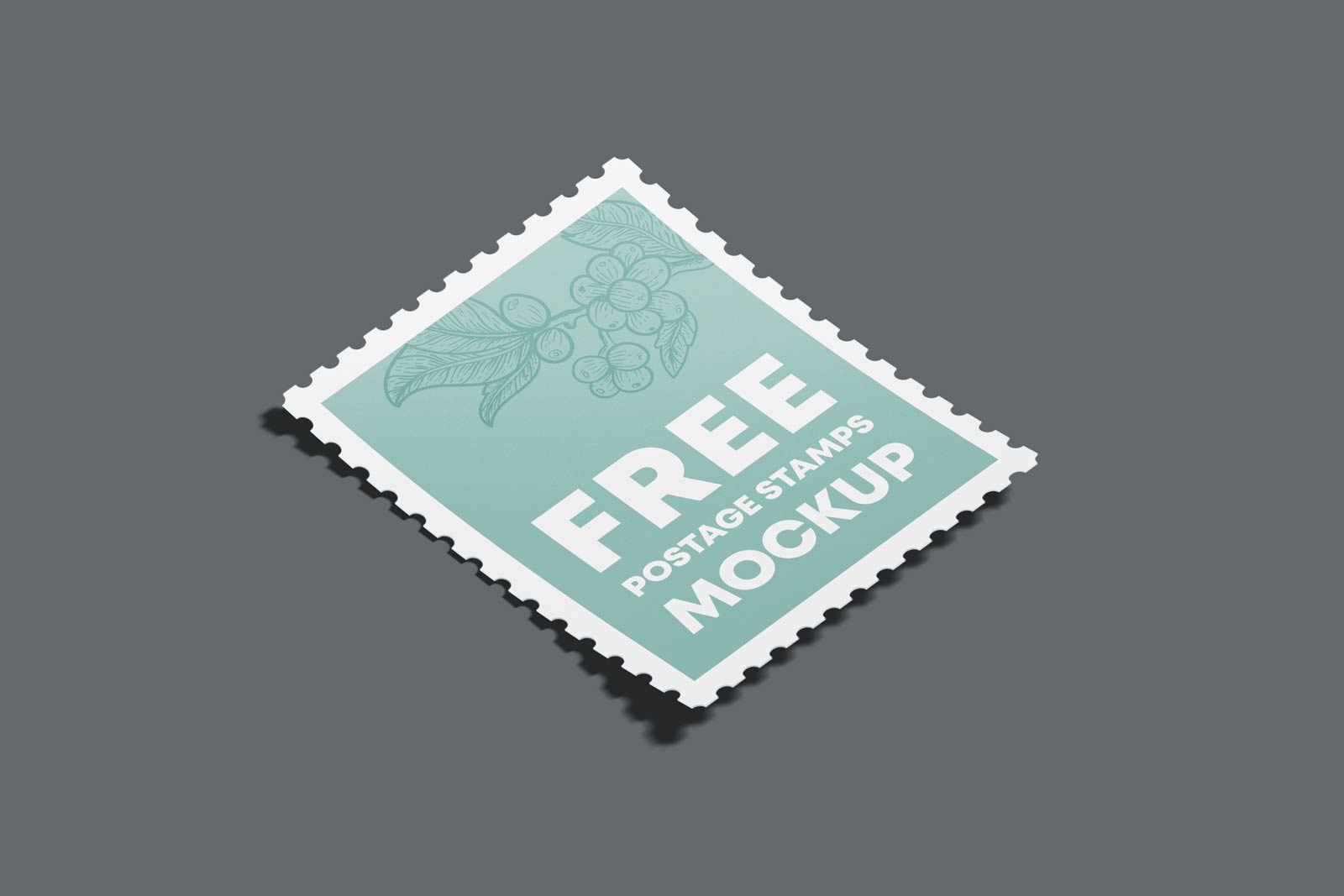 Free Postage Stamp Mockup PSD