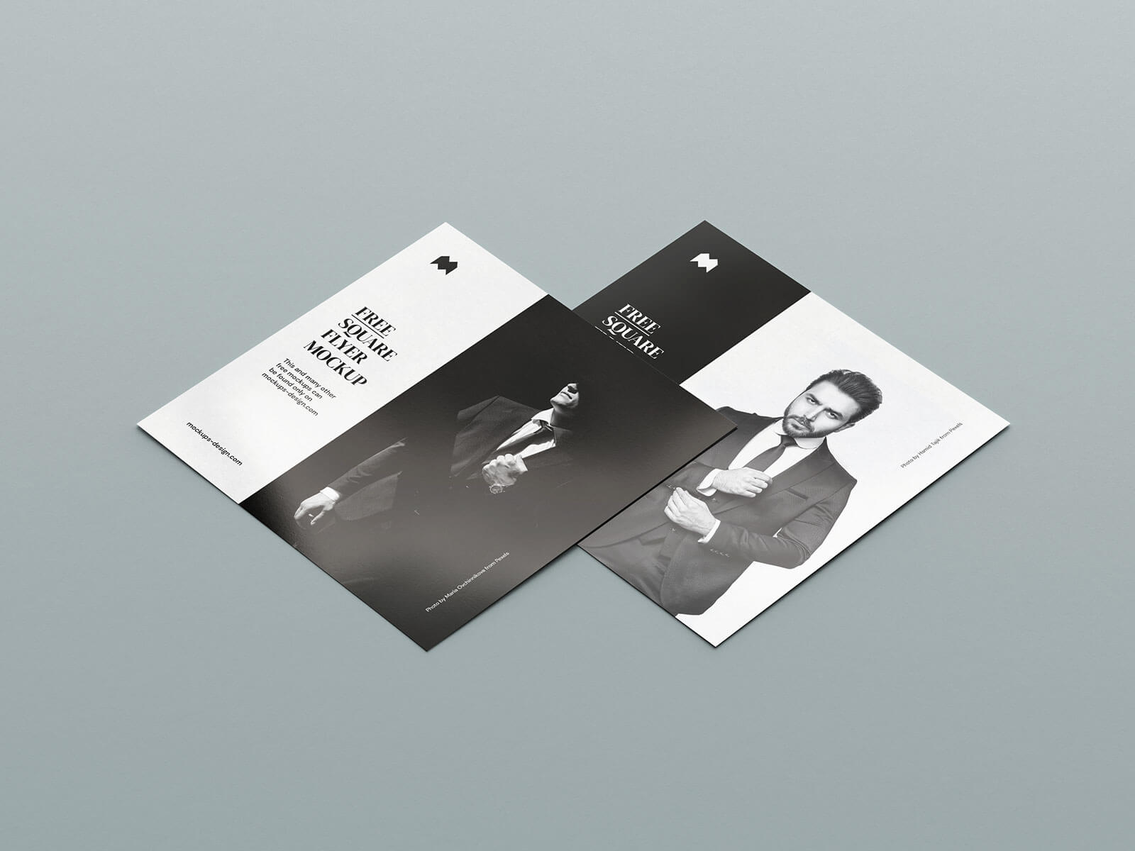 Free Square Flyer Mockup PSD Set (1)