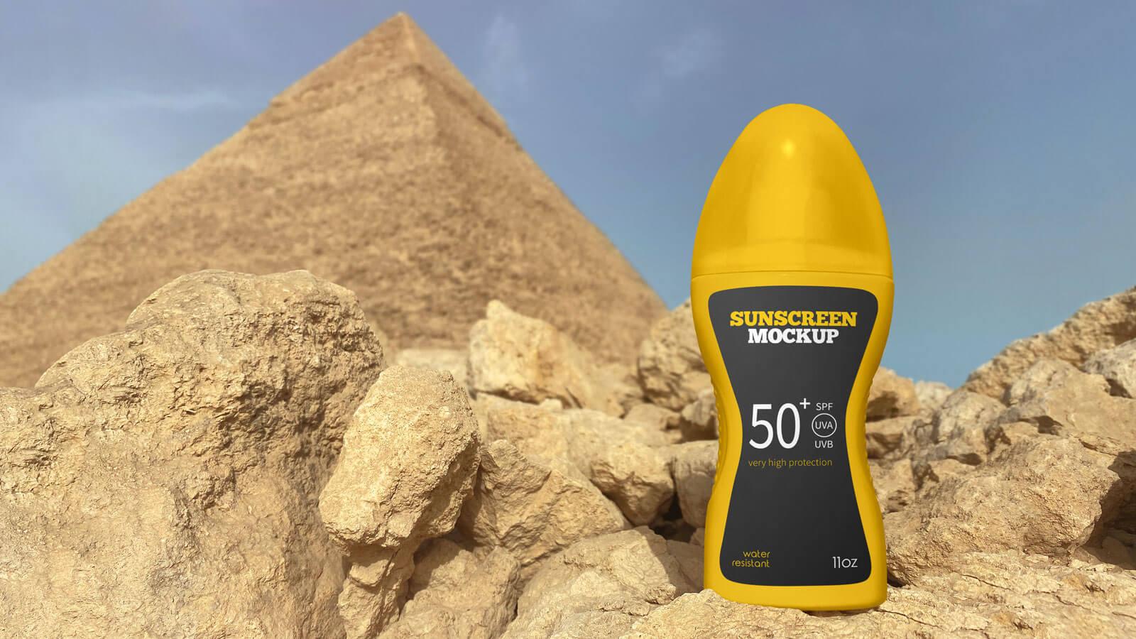 Free Sunscreen Spray Bottle Mockup PSD Set (2)
