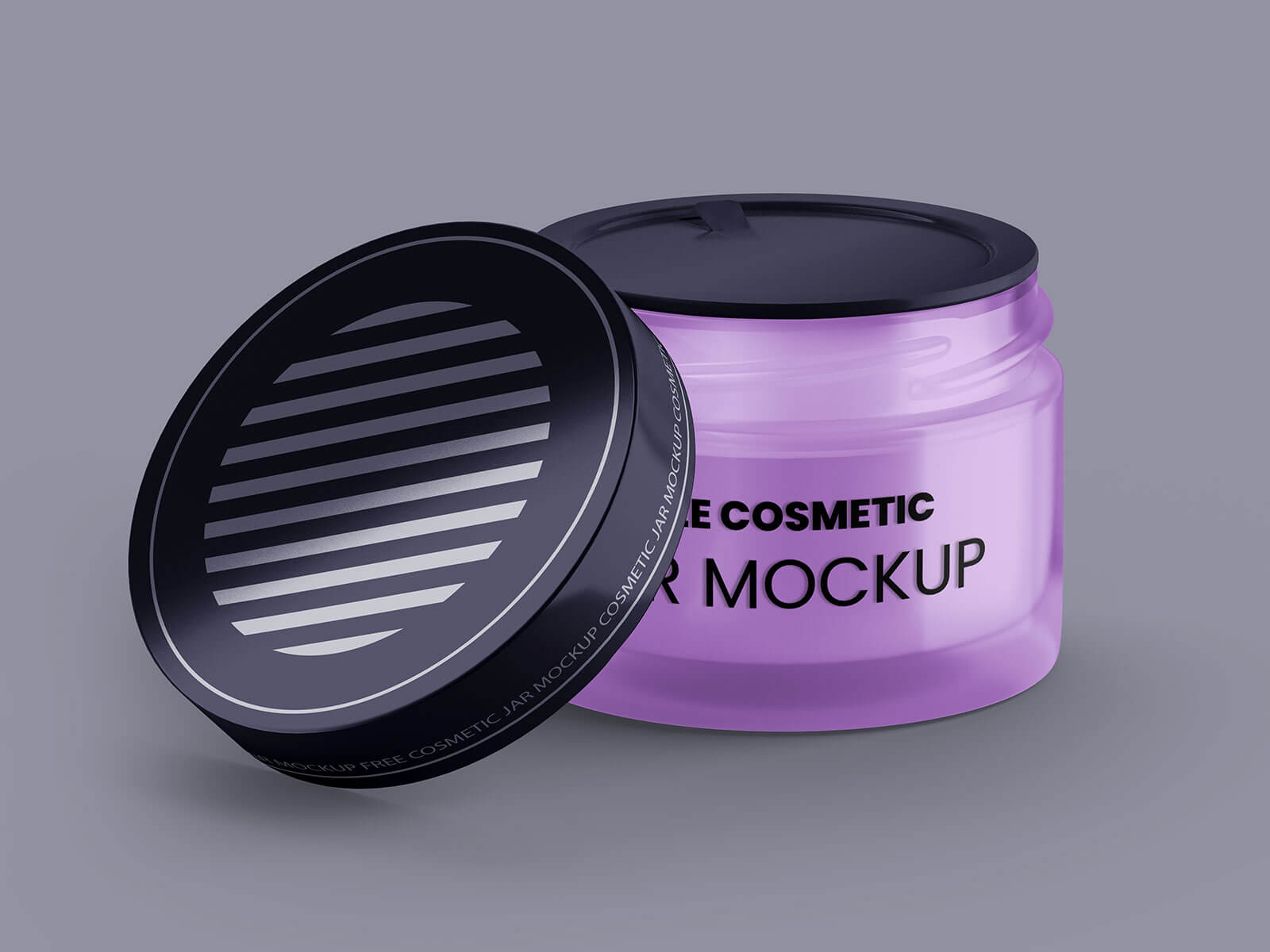 3 Free Glass Cosmetic Jar Mockup PSD Set (1)