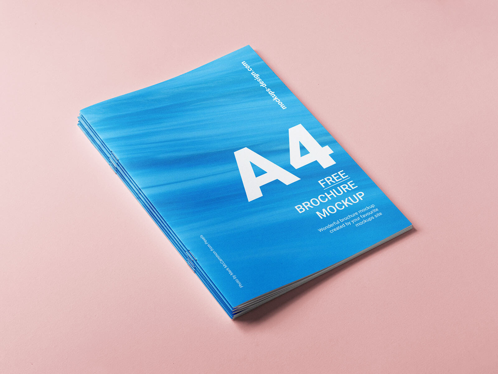Free A4 Brochure Cover Mockup PSD Set