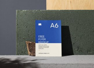 Free-A6_Flyer_Mockup-PSD-With-Stones