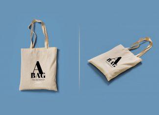 Free Canvas Tote Bag Mockup PSD Set