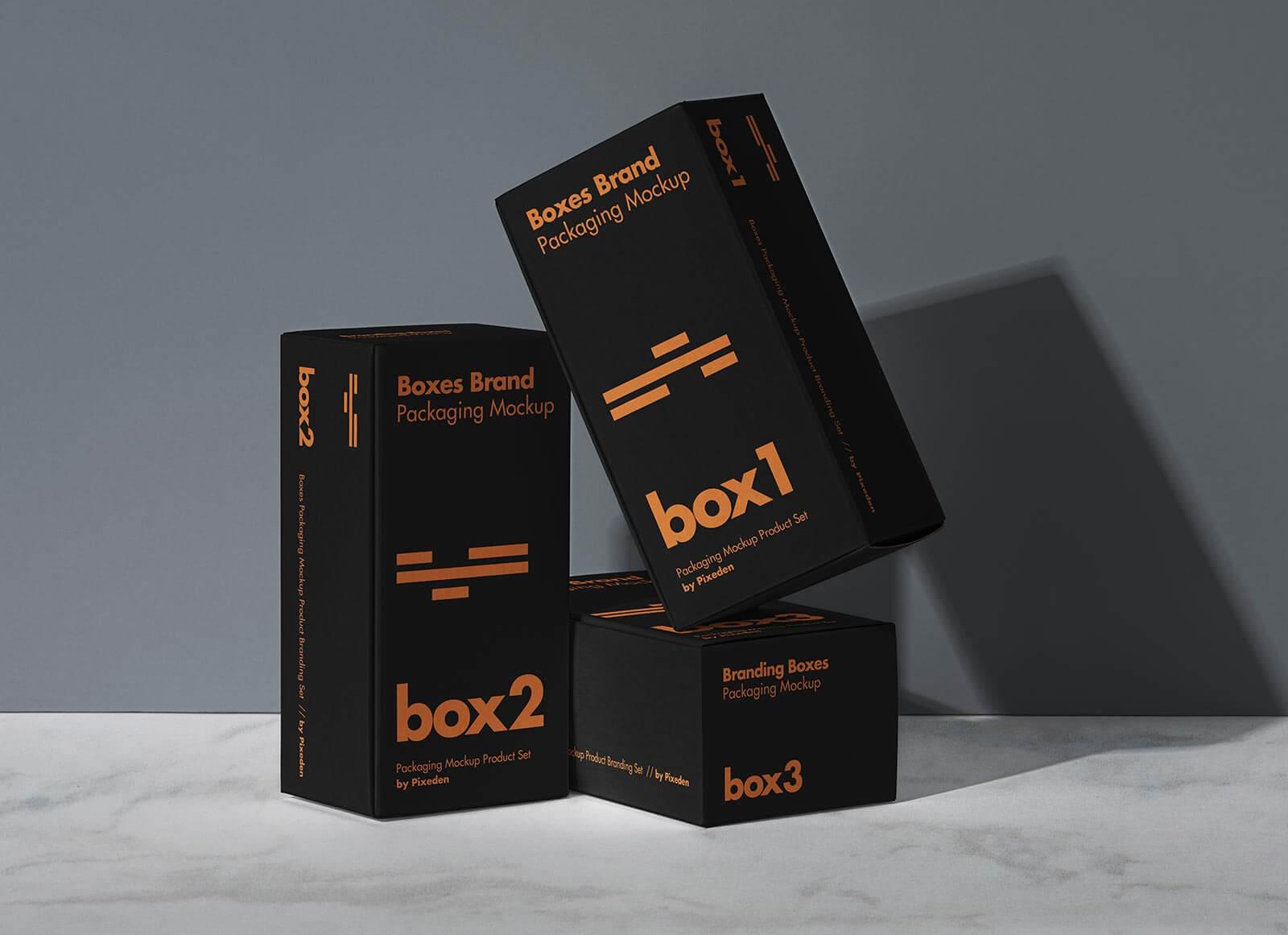 Free Cuboid Product Box Packaging Presentation Mockup PSD