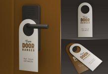 Free Door Hanger Mockup PSD Set