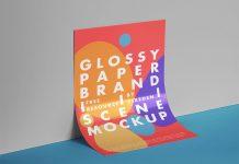 Free-Glossy-Paper-Branding-Scene-Mockup-PSD