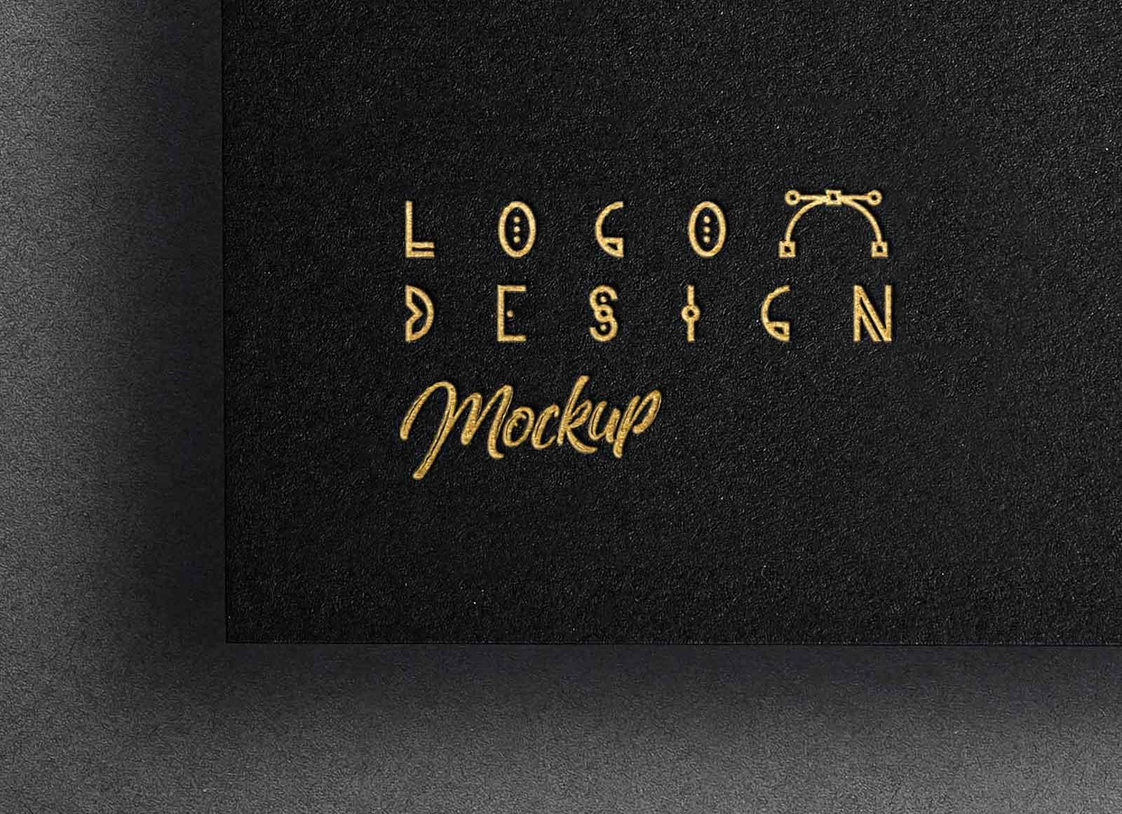 Free-Gold-Foil-Printed-Paper-Logo-Mockup-PSD