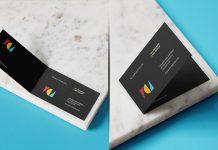 Free-Horizontal-Folded-Business-Card-Mockup-PSD-Set