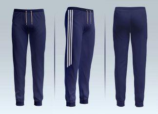 Free Jogger Track Pants Mockup PSD Set