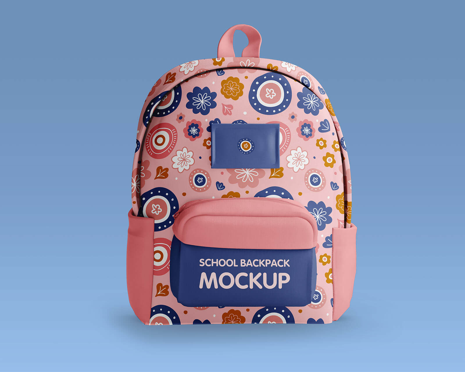 Free Kid's School Backpack Mockup PSD Set